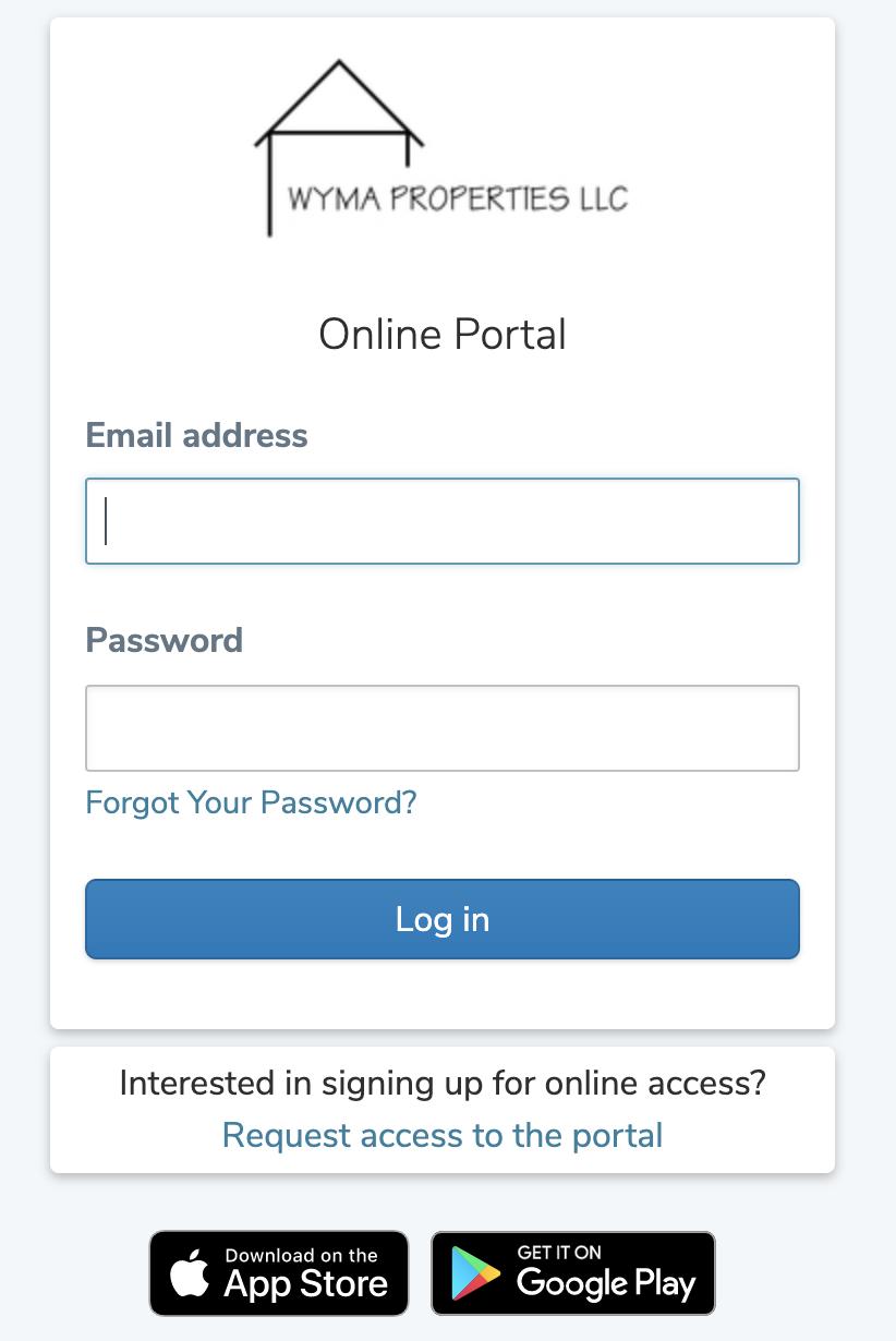 Wyma Properties Resident Portal